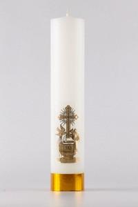 Chrzest - świeca ołtarzowa, średnia [CH3]