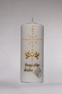 Ślub - krzyż malowany, duża [Ś4]