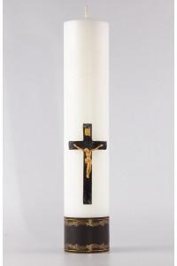 Świeca ołtarzowa pogrzebowa - Krzyż z Panem Jezusem, duża...