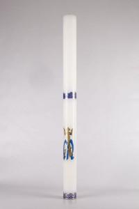 Świeca roratka - motyw z koroną, średnia [R3]