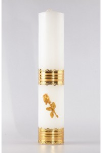 Świeca ołtarzowa - Róża złota, duża [O-4]
