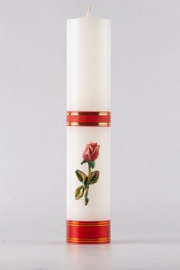 Świeca ołtarzowa - Róża czerwona, mała [O-10]