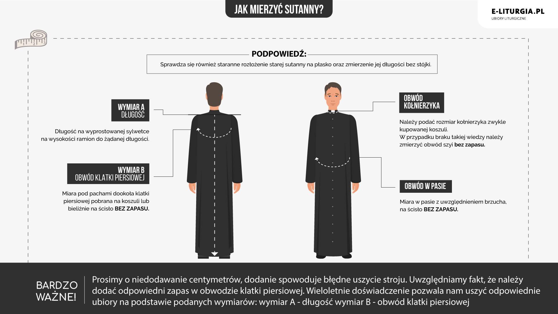 Sutanny | Ubiory dla księży prałatów